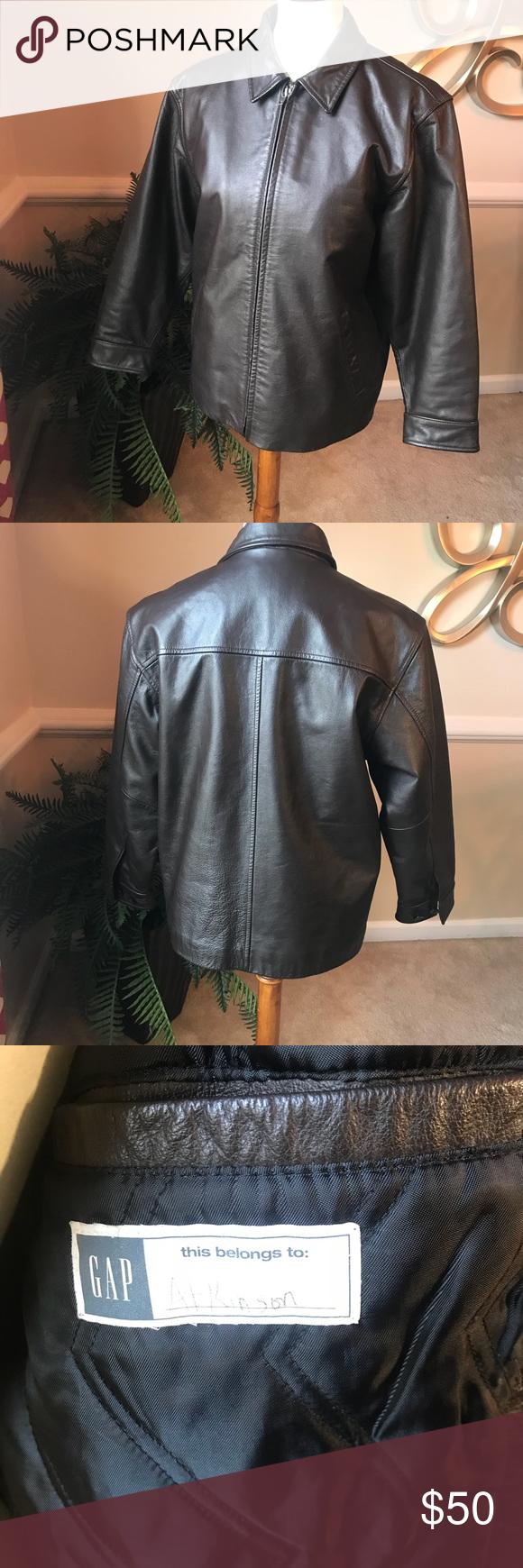 Gap Genuine Brown Leather Jacket Brown Leather Jacket Leather Jacket Jackets [ 1740 x 580 Pixel ]
