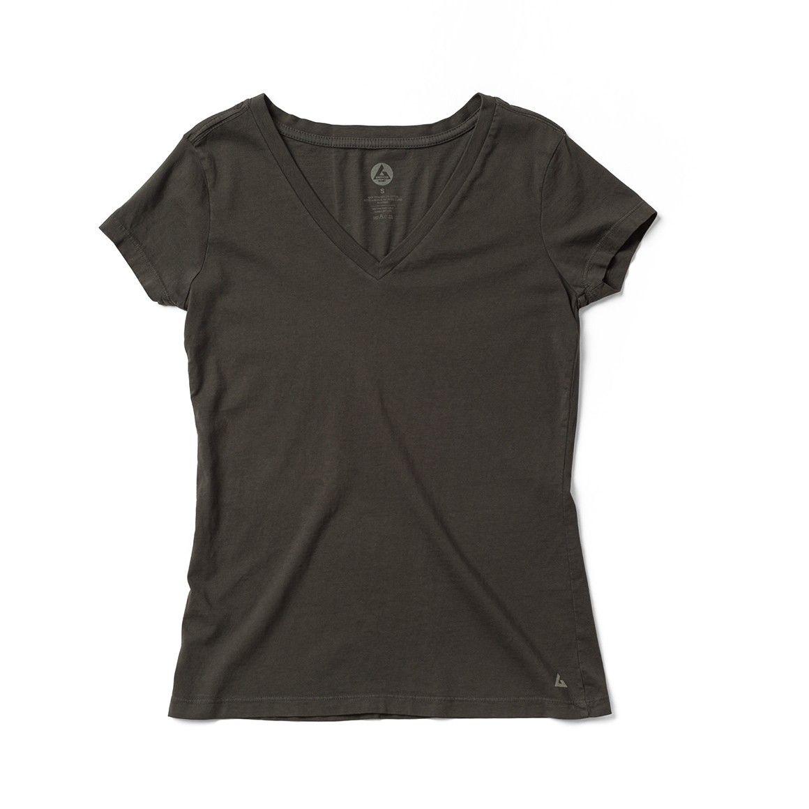 Womens Short Sleeve V-Neck T-Shirt - T-Shirts