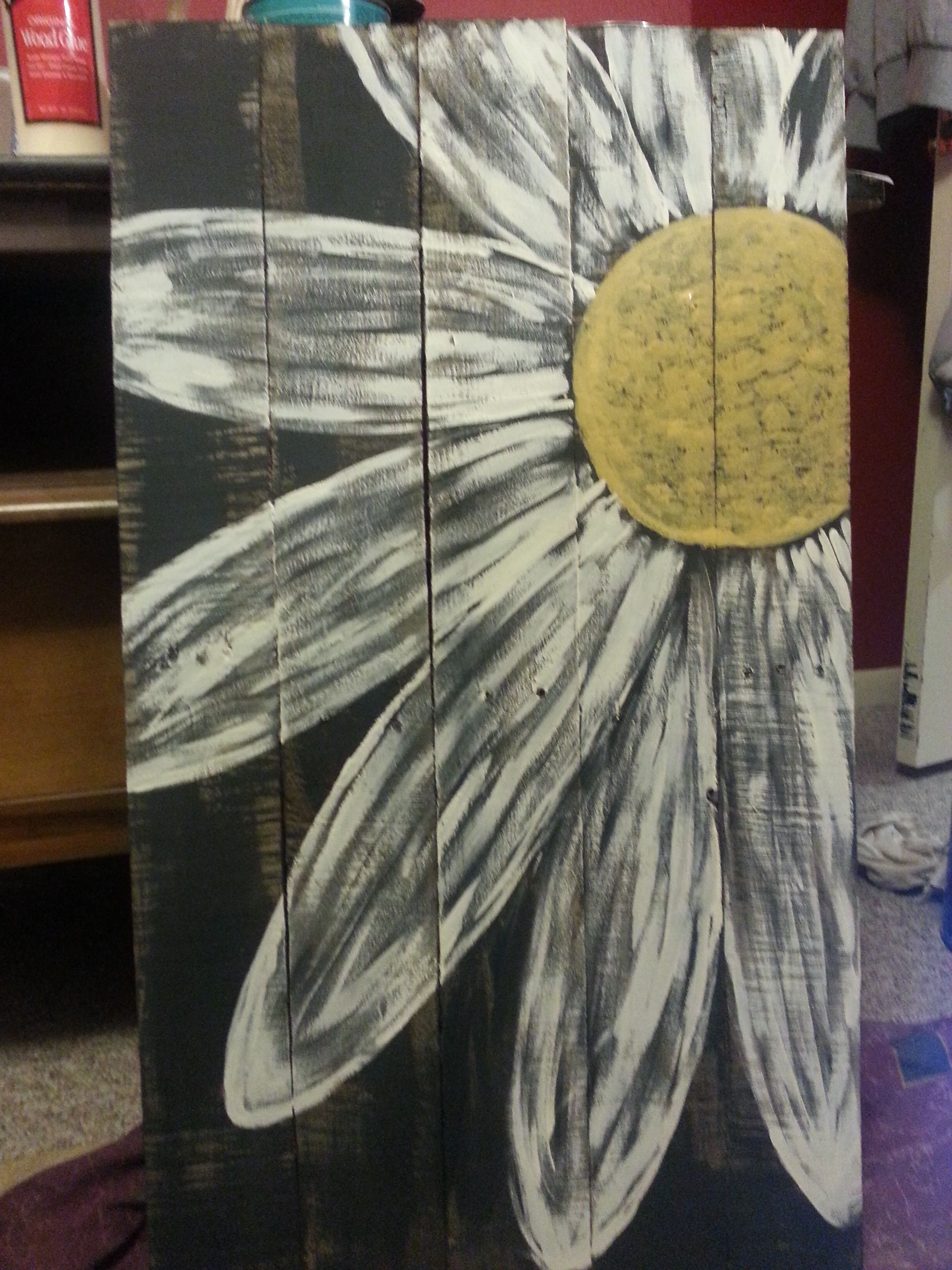 Daisy Pallet Sign Painting On Pallet Wood Pallet Painting Pallet Art
