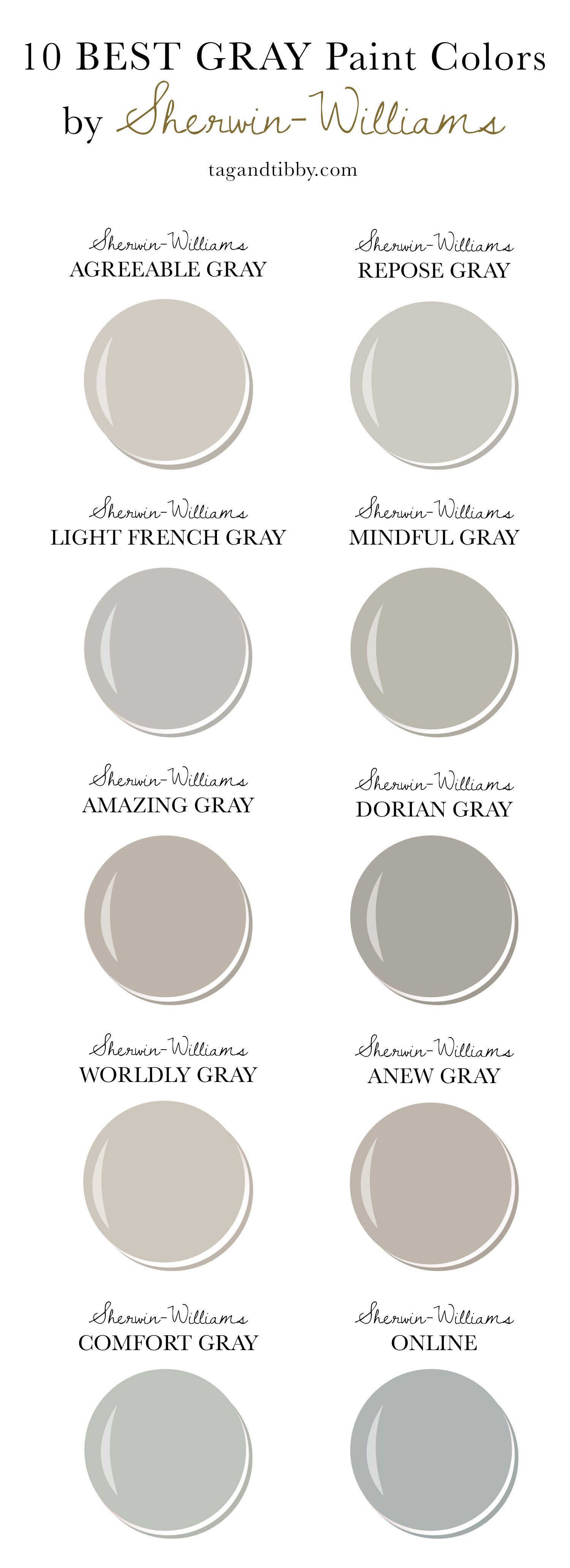 10 best gray paint colors by sherwin williams in 2020 on 10 most popular paint colors id=61157