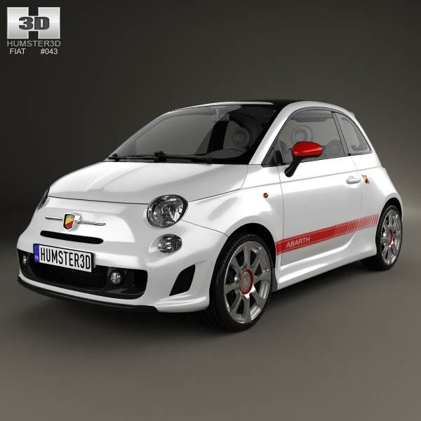 Fiat 500 Abarth 2012 3d model from humster3d Price $75