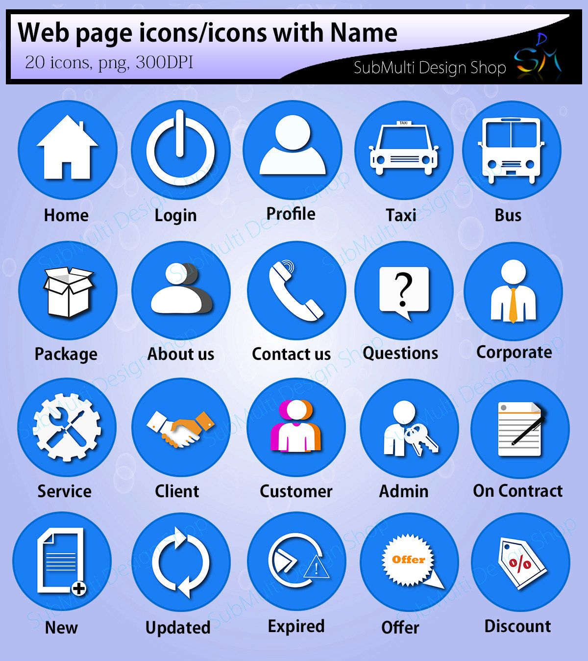 web page icons / graphic icons / icons / web icons