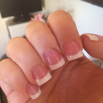 Short Wide Square Acrylic Nails Nail D