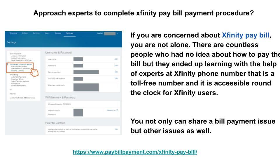 Xfinity Pay Bill Comcast Bill Payment Paying Bills Bills Paying