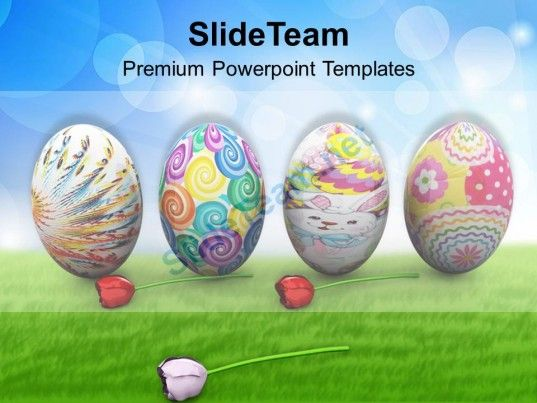 Easter Bunnies Colorful Eggs Holidays Powerpoint Templates Ppt - easter powerpoint template