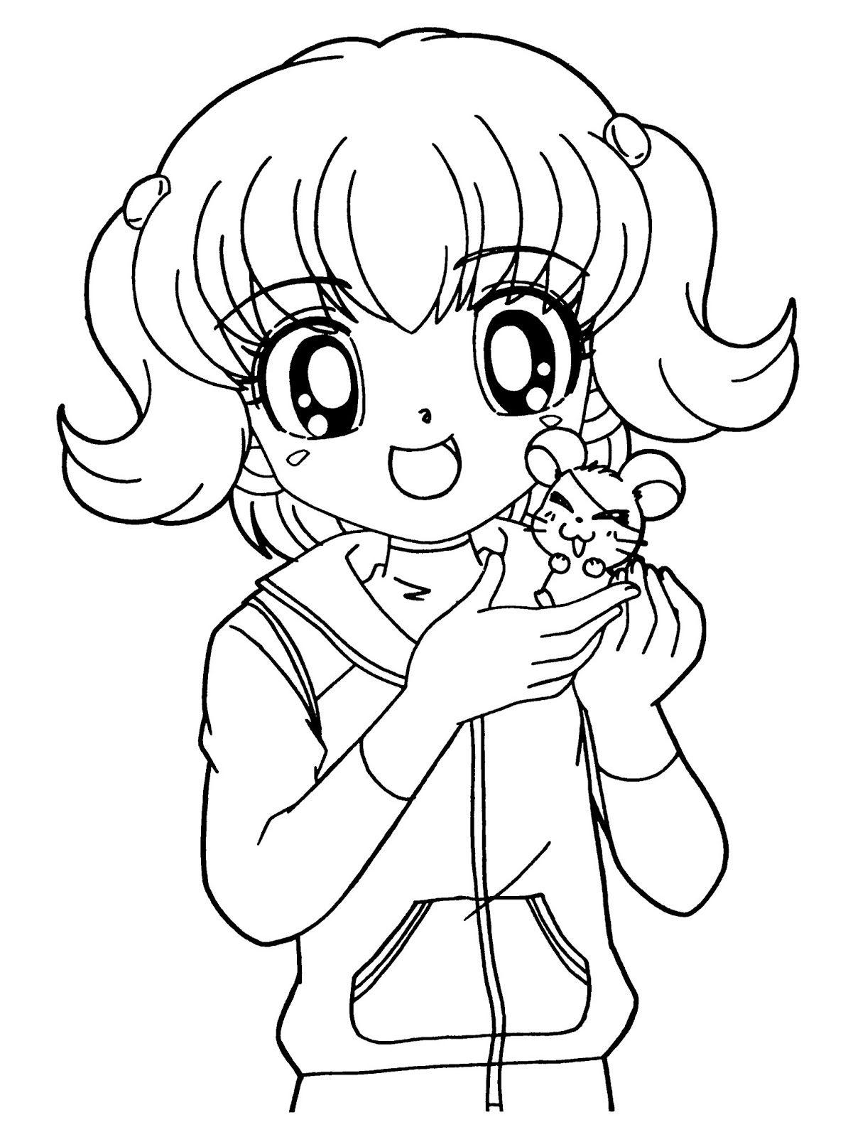 Раскраска аниме для детей