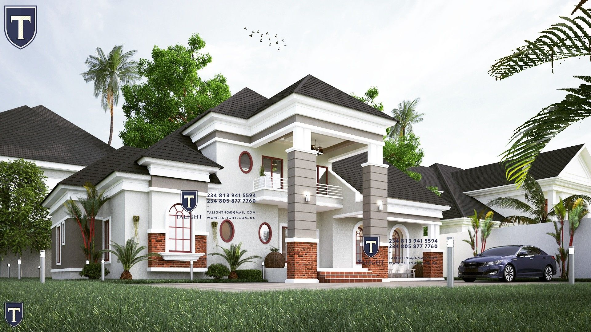 5bedroom Bungalow With Penthouse In Nigeria Contact Us On Your Next Project 2348139415594 Bungalow Design Architect Design House Bungalow House Design