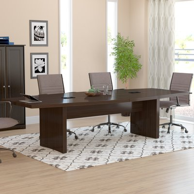 10 Global Total Office Boat Shaped Boardroom Table With Mahogany Finish Boardroom Table Global Furniture Office Furniture Solutions