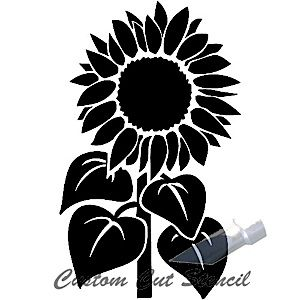 Sunflower Stem | Silhouettes Flourish Flower Silhouettes ...