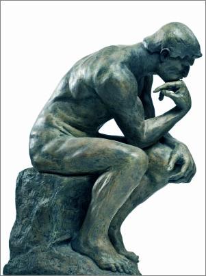 Le Penseur De Rodin Dessin : penseur, rodin, dessin, L'intellectuel, Français, Menacé, D'extinction, Arts,, Sculpture, Rodin,, Oeuvre, D'art