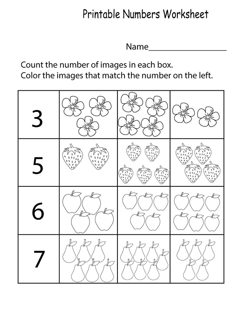 Pre K Worksheets Numbers Kids Learning Activity Printable Numbers Fun Math Worksheets Kids Math Worksheets