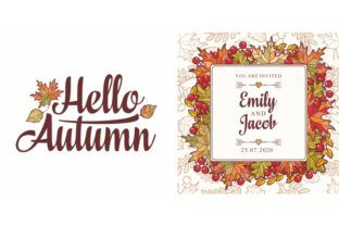 Hello Autumn Lettering Phrase Text (Graphic) by zoyali · Creative Fabrica #helloautumn