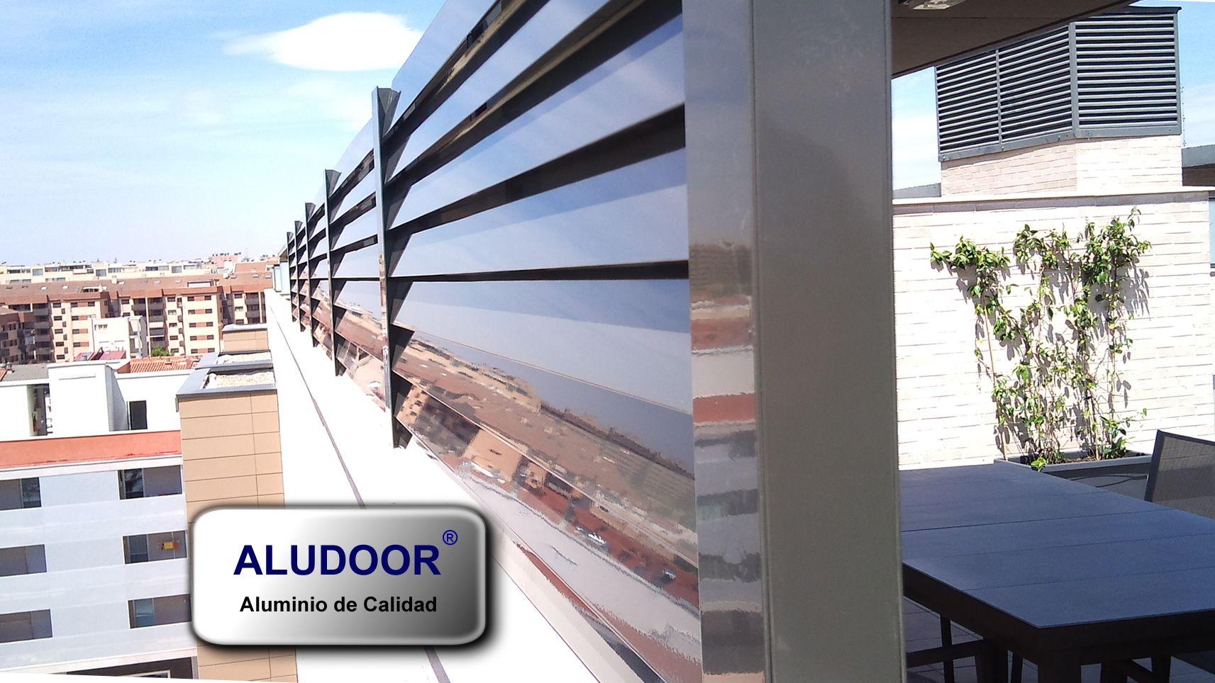 Valla ventilada de aluminio de calidad dise o vallas exteriores en aluminio aluminium fence - Vallas de diseno ...