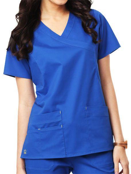 8442e608ed2 #Maevn 1102 Blossom Y-Neck Top for $17.99 ONLY! #nurse #scrubs #medical  #suit #uniform #fashion