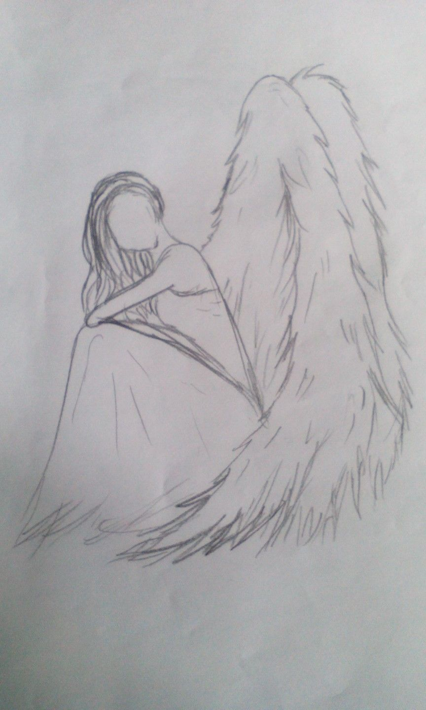 angel with no face angel drawing my drawings pinterest