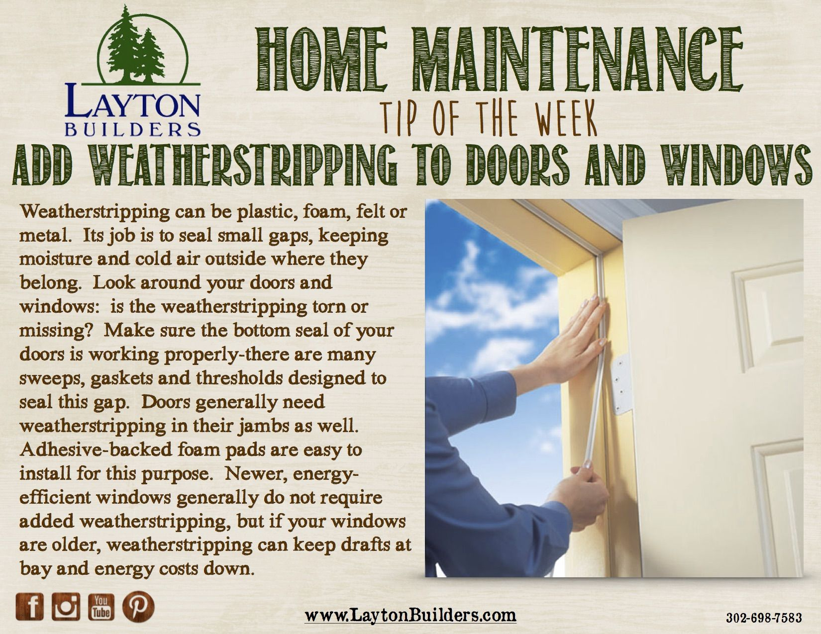 Home Maintenance Tip Of The Week From Layton Builders Tips
