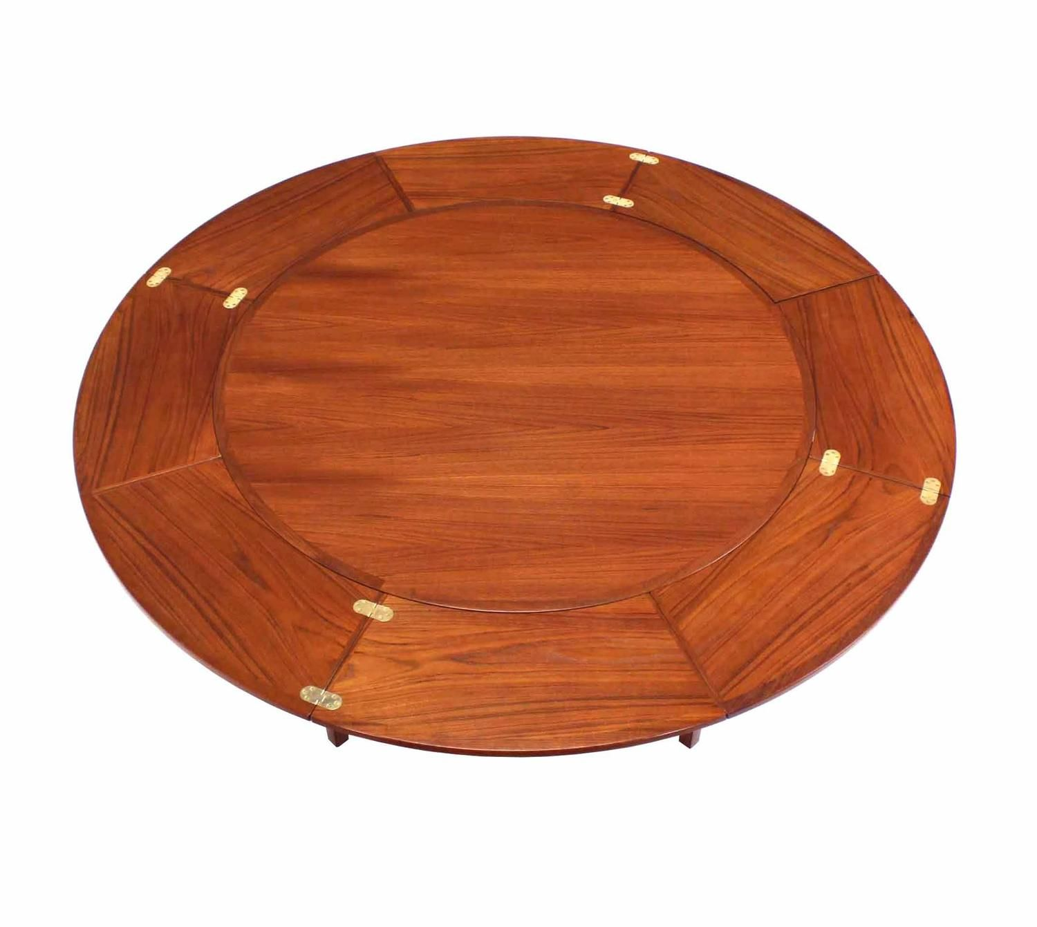 Rare Danish Modern Teak Round Expandable Top Dining Table Dining Table Expandable Dining Table Round Dinning Table