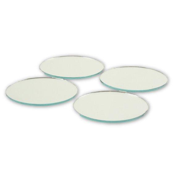 2 Inch Mini Glass Craft Small Round Mirrors 5 Pieces Mosaic Mirror Tiles Small Round Mirrors Round Mirrors Mirror Tiles