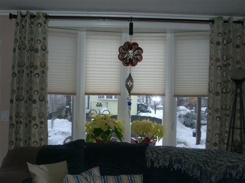 Bow window treatment pictures bow window treatments Window treatments for bay window in living room
