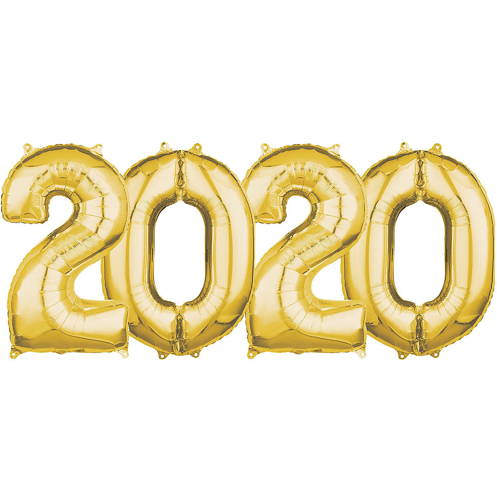 26in Gold 2020 Number Balloon Kit Party City Number