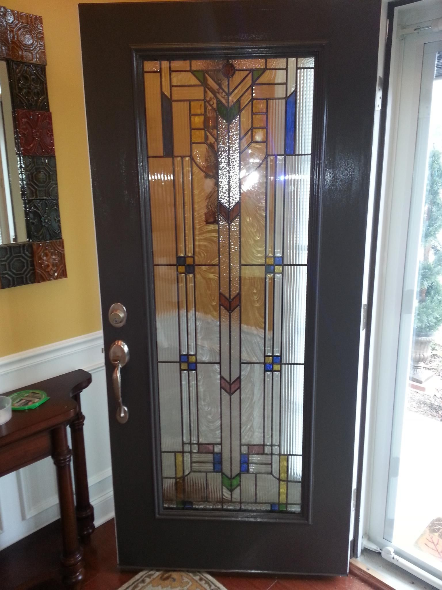 Stain glass front door