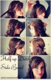 Haldf-up Dutch Side Braid