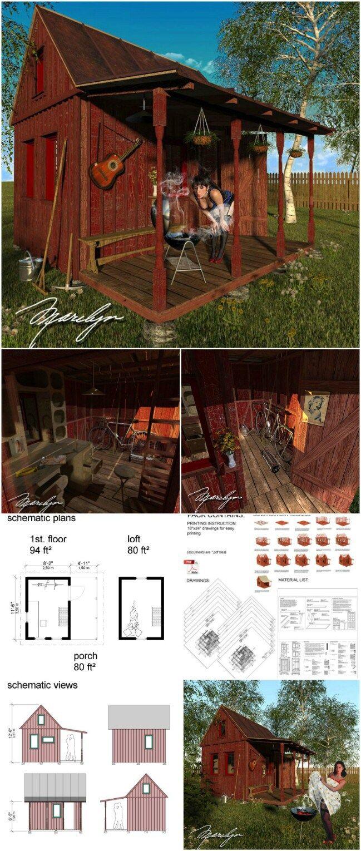 25 проектов дачных домиков эконом класса   Мои Идеи Для ...