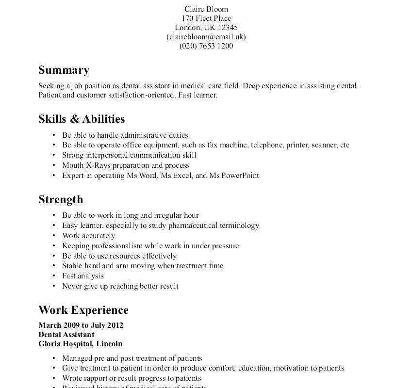 28 dental assistant resume objectives