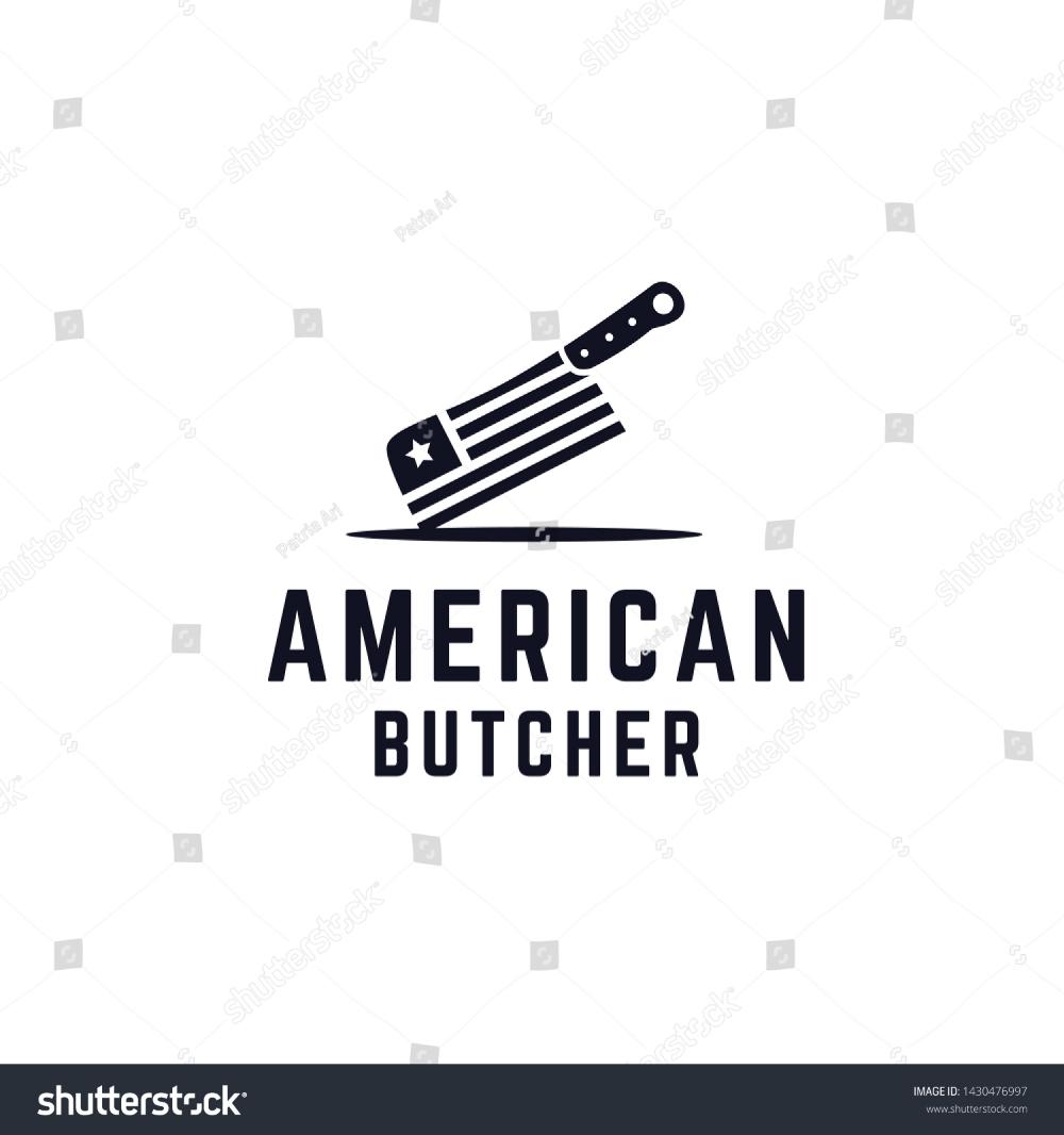 Butcher Knife American Flag Patterns Illustration Stock Vector Royalty Free 1430476997 Pattern Illustration American Flag Logo Restaurant