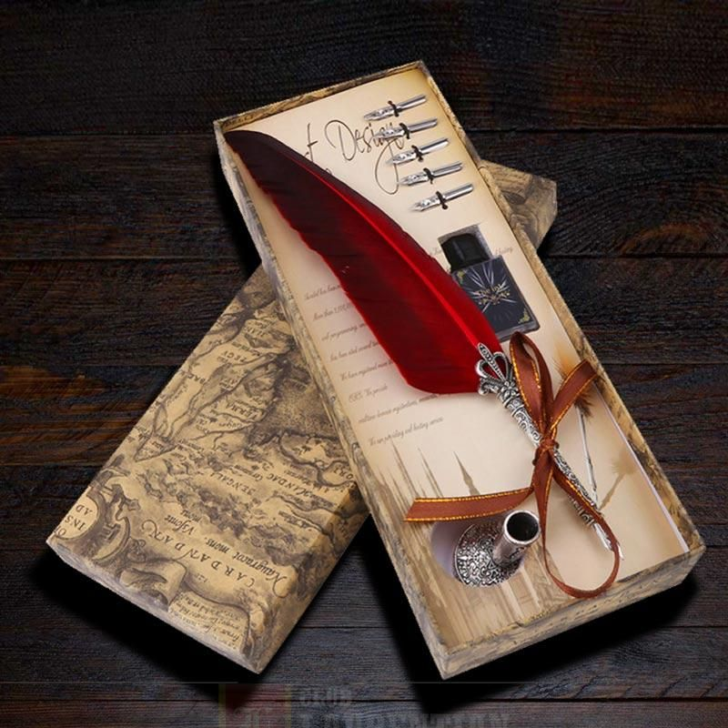 Classic Feather Quill Pen Set in 2020 (With images)   Pen ...