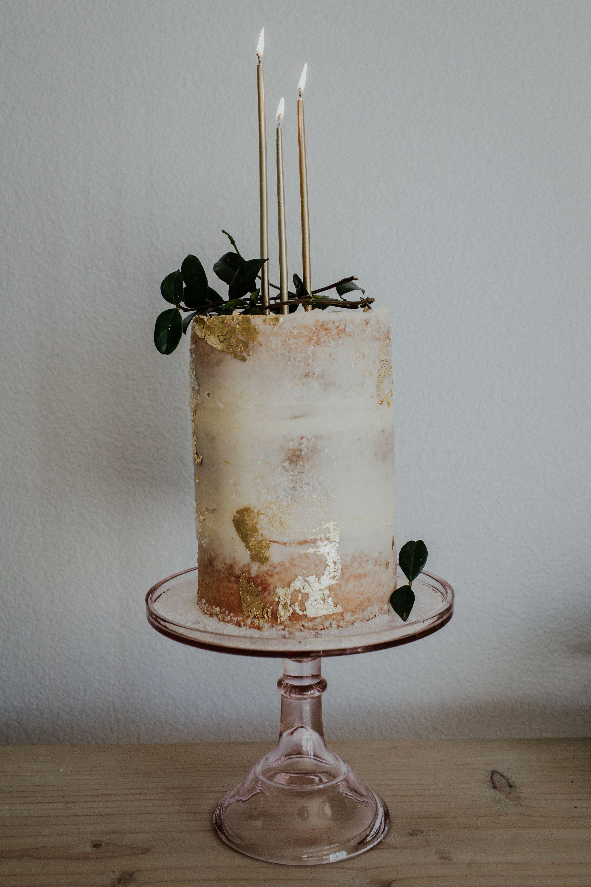 Gold Leaf Birthday Cake Bttrcrm Pretty Birthday Cakes Elegant Birthday Cakes Gluten Free Wedding Cake