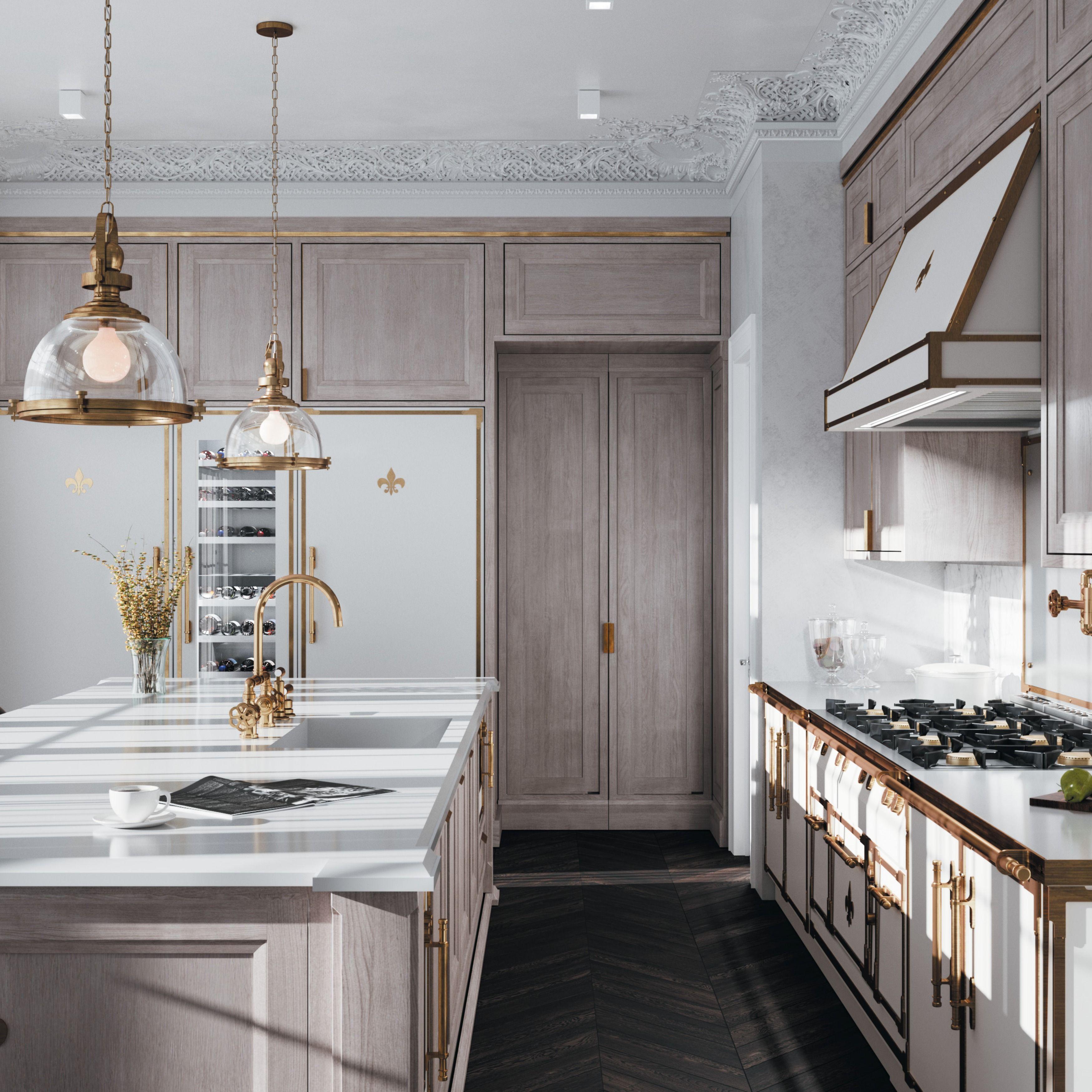 Custom Parisian Inspired Kitchens L Atelier Paris In 2020 Luxury Kitchen Design French Kitchen Design Kitchen Design