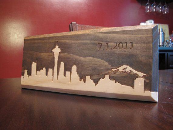 Seattle Washington city skyline Little Rhody Crafts
