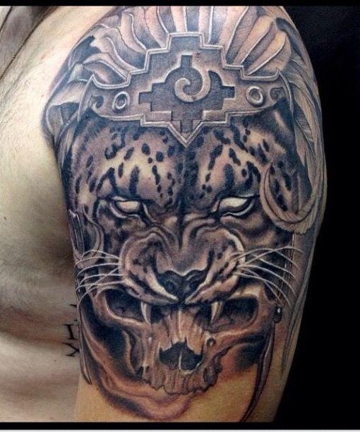 Vintage Poodle Usa Slouchy Tee Jaguar Tattoo Aztec Tribal Tattoos Aztec Tattoo Designs
