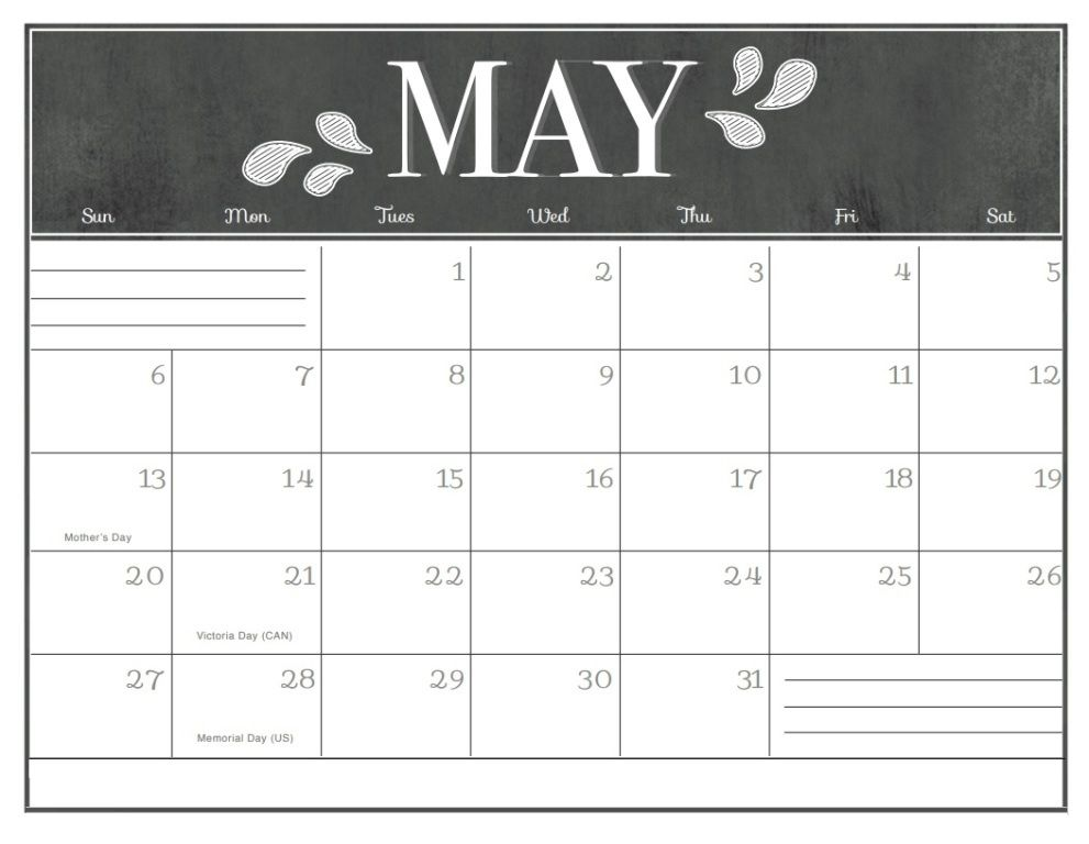 Pin by Sourcetemplate on May 2018 Calendar Calendar, Chalkboard