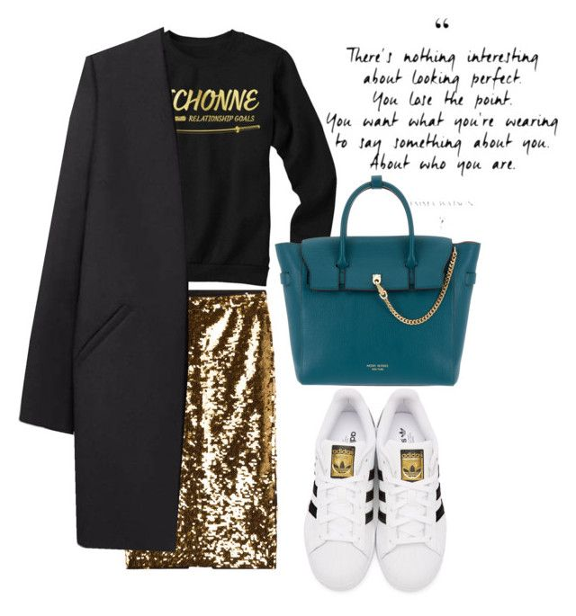 """Richonne is relationship goals"" by yanique1018 on Polyvore featuring Mes Demoiselles..., adidas Originals, Henri Bendel and Non"