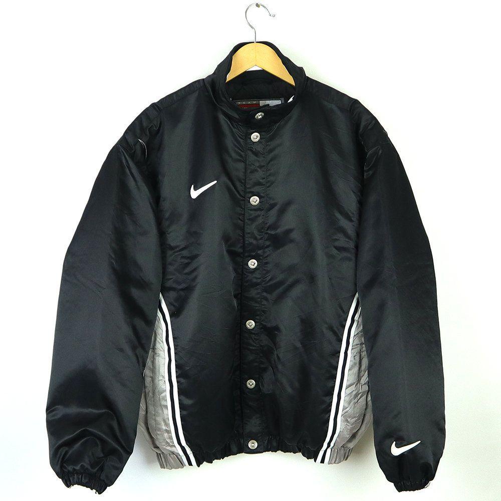 Rare Vintage 90s Team Nike Sport Bomber Jacket Vintage Nike Varsity Jacket Color Black Silver Nike Varsity Jacket Bomber Jacket Vintage Camoflauge Jacket [ 1000 x 1000 Pixel ]
