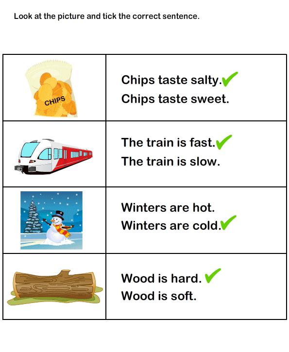 Preposition In Learn In Marathi All Complate: Describing Words Worksheet17