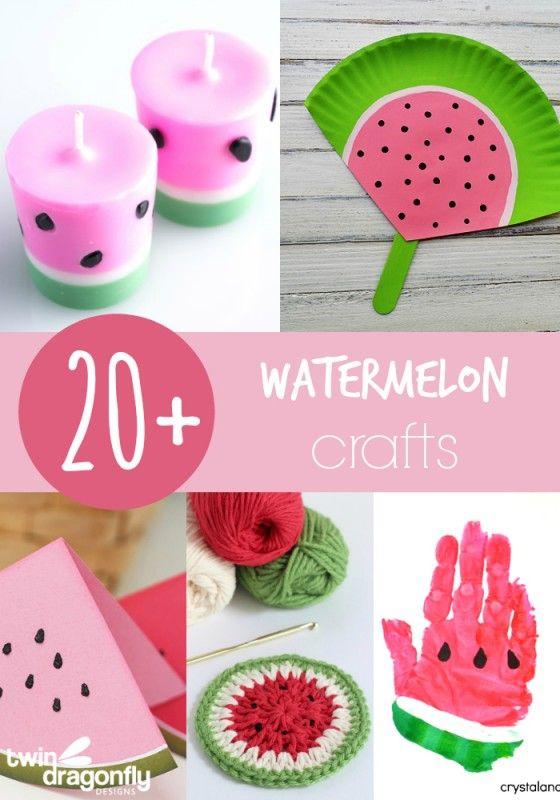 20 Adorable Watermelon Crafts Watermelon Crafts Crafts Jar Crafts