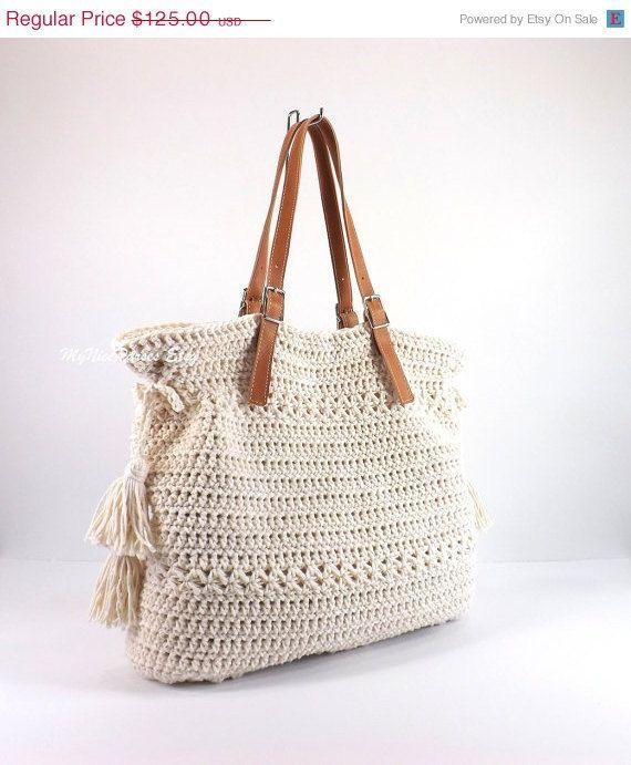 Crochet Bohemian Style Handbag, Crochet Boho Tote Bag, Shopper Bag, Beach Bag, Gift Idea #håndarbejde