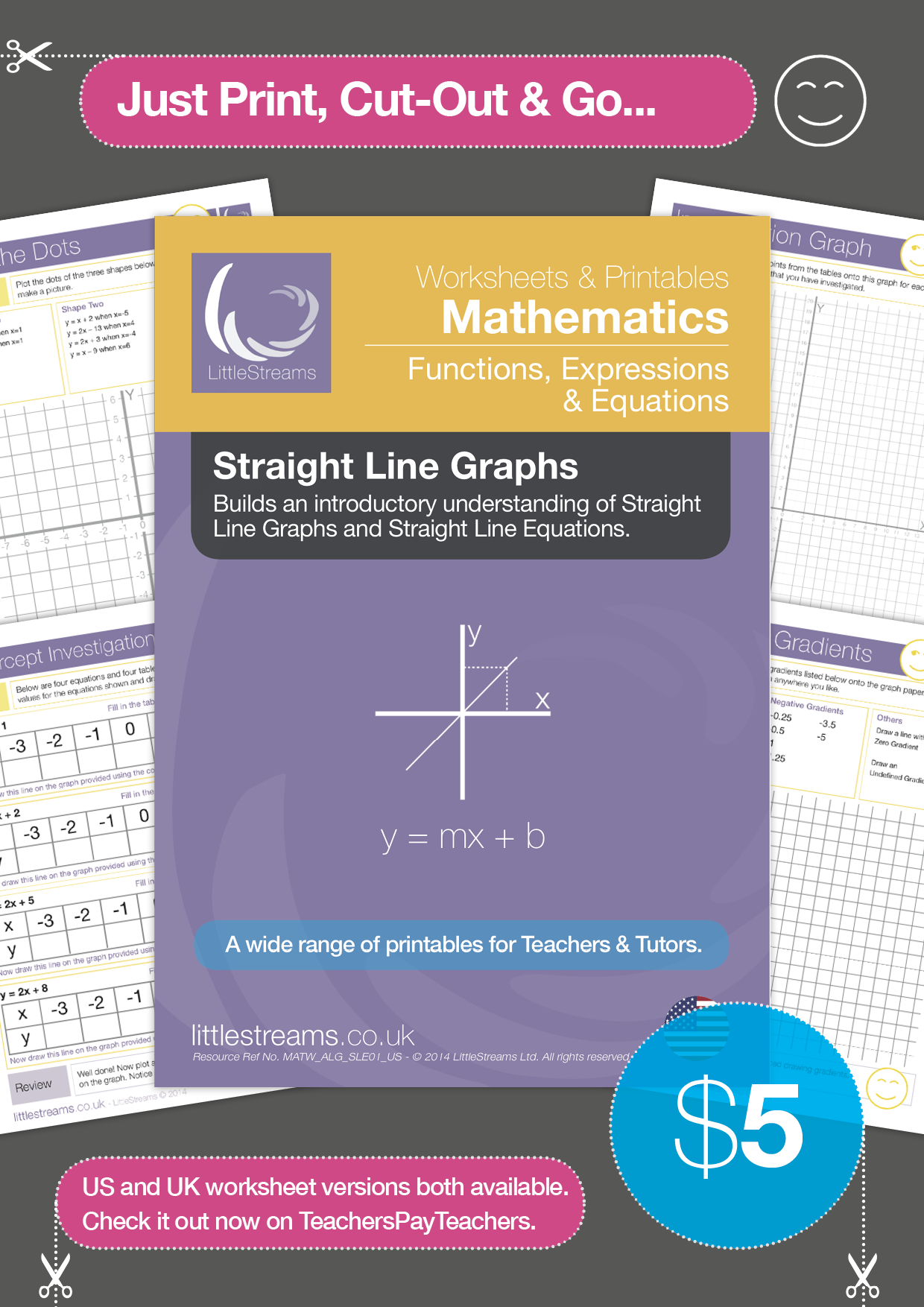 Straight Line Graphs Amp Equations Printables Amp Worksheets
