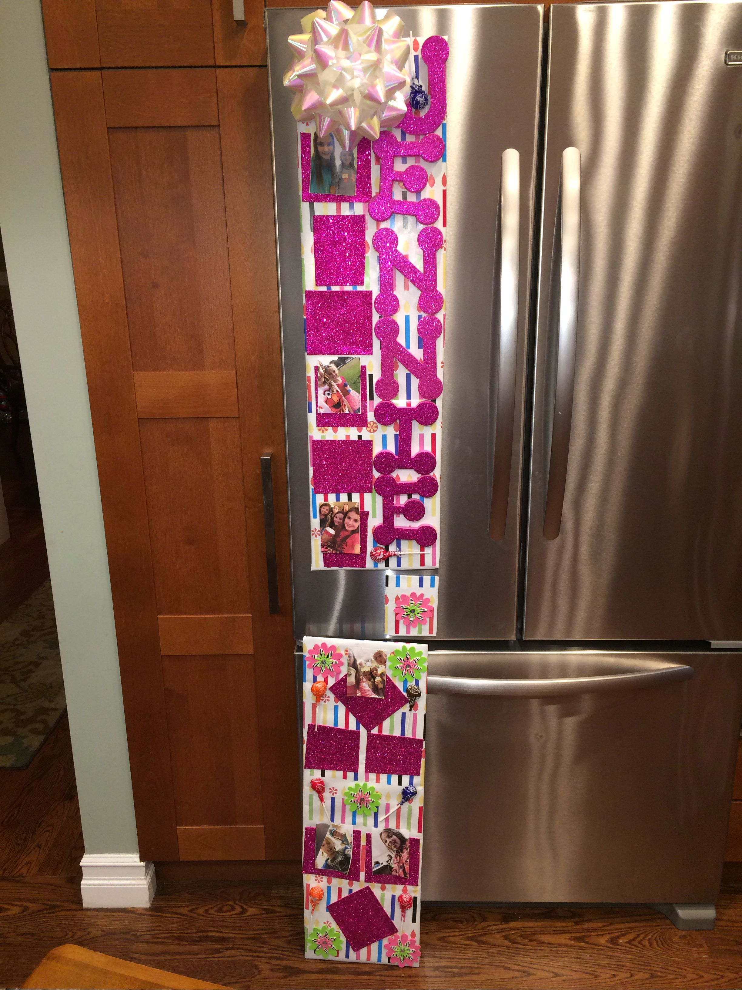 Locker decoration for Birthday pre made Pre measure Wrap card board