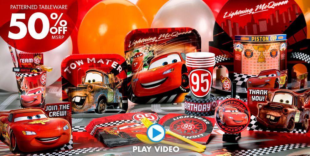 Cars Party Supplies Beckett is 1 Pinterest