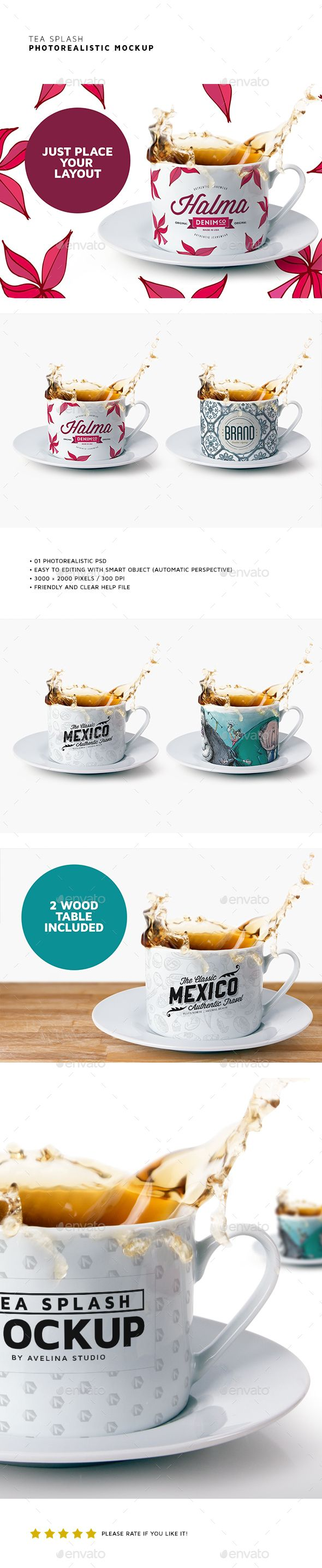 Tea Splash Mockup #design Download: http://graphicriver.net/item/tea-splash-mockup/13308533?ref=ksioks