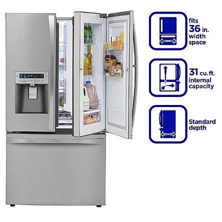Kenmore Elite 31 Cu Ft Grab N Go Bottom Freezer French Door