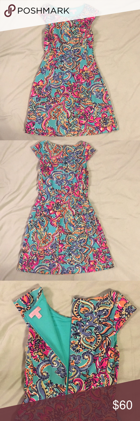 f374518552f73b Lilly Pulitzer Briella dress (EUC) EUC. Lilly Pulitzer Briella dress in  print Aqua