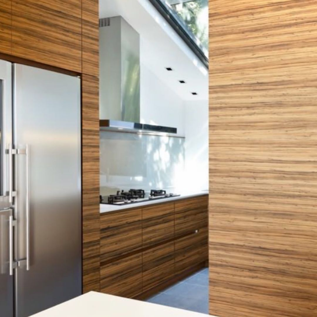 Bespoke Zebrano Kitchen Cabinets We Stock This Beautiful Decorative In A Real Wood Veneer On An Mdf Core Wood Veneer Home Decor House