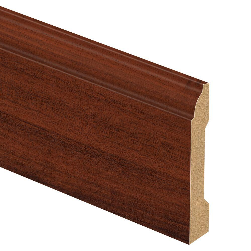 Zamma Brazilian Cherry 9 16 In Thick X 3 1 4 In Wide X 94 In Length Laminate Wall Base Molding Dark Products Laminate Wall Base Moulding Flooring