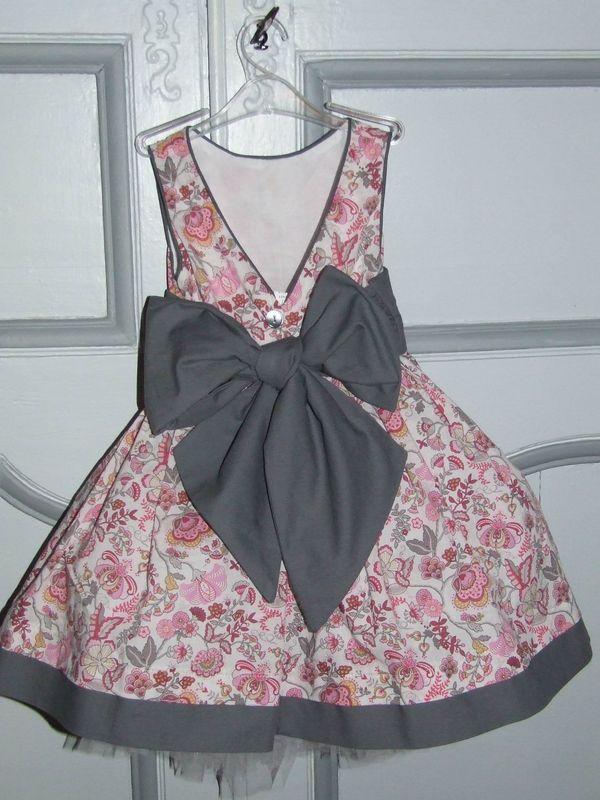 Robe cortege rose et gris