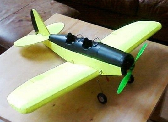 760mm wingspan RC 'Tribewt' monoplane scratch build in
